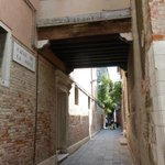 "Sestiere Castello, the small ""road"" off Riva Degli Schiavoni that leads straight to the hotel's"