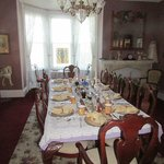 Another view of dining room.  Breakfast included egg, pancakes, fruit and potatoes