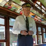 Our conductor on the trolley