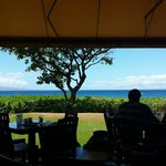 Great view of the ocean from our table
