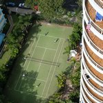 Tennis court from balcony