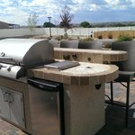 Stone BBQ with bar top seating