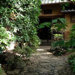 entrance way to the Tamahan Ryokan