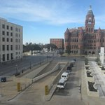 Looking out at Dealey Plaza from the Lawrence