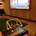 Area in lobby to watch World Cup games