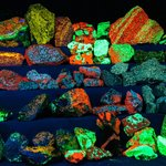 More of the Fluorescent Mineral Display