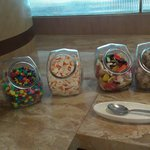 The sweet station at the breakfast buffet!
