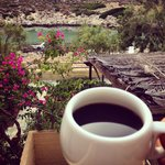 Morning Coffee at Little Bay Stavros