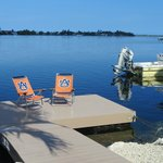 private dock at Blue Water Key
