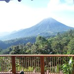 Amazing view from our room of Arenal Volcano