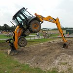 Digger stunts (don't try this at home!)