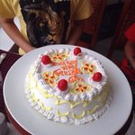 My son & my birthday cake .. Made by Ramada Khajuraho Staff.
