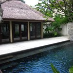 A view of our private pool and part of our villa  (living room area)
