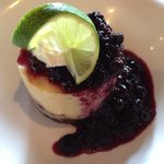 Key lime tart with blueberries - delicious!
