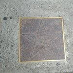 A star of a Yiddish Performer on the Yiddish Theater walk of fame