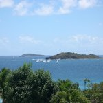 View from the beautiful condos on the hill above Secret Harbor, St Thomas