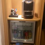 Minibar and espresso machine
