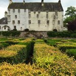 Traquair House, as seen from the center of the maze.