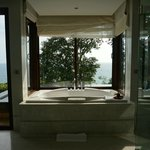 Bath overlooking the Andaman sea