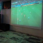 Projector screen..