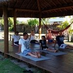 yoga at bahia surf camp
