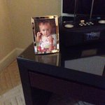Our attaché, Michelle, arranged for this pic of our daughter to be in our room. Was my wife's fi
