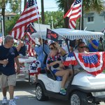The BVR staff in the parade for the 4th of July