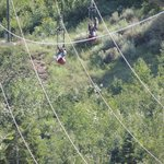 Descending the zipline....yahoo!!!