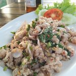 Pork larb - mild version but still pretty spicy!
