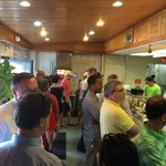 Standing room only at lunch, but so worth it!!!! People understand and move pretty fast.