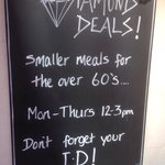 Does it mean when you reach the age of 60 it's smaller meals Monday Thursday