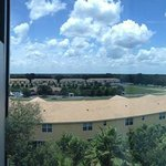 Panorama view from room. 5th floor.