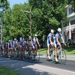 Bike road racing the pheloton