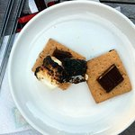 S'mores with ingredients provided!