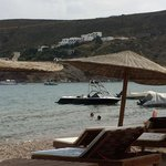 Patmos Paradise on hill, view from George's on Kampos Beach