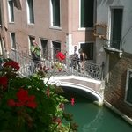 Canal bridge from room window