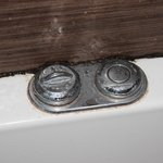 Mold and grime in jetted tub.