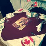 Canada Day Decor set for breakfast