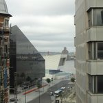 A shot from my room looking at Pierre Head and Liverpool Museum