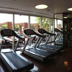 Very well equipped gym and pool