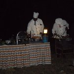 Enjoy dinner in the bush with gourmet dishes prepared by our chefs