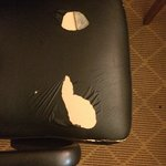 Ripped desk chair- really Marriott?