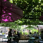 Outdoor seating for Brunch