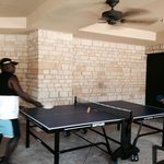 Table Tennis fun at the pool!