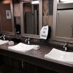 They didn't replace the soap in the ladies bathroom in the lobby the whole day of July 10th :(