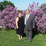 Tom & Deb Skogen with Texas Sage Bush