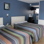Rooms with 1Queen and 1 Double Bed