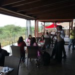 The dining area balcony overlooking Nairobi National Park!