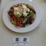 Well priced Greek salad at pool deck (6.50 euro)