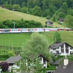 Interlaken/lucerne express from balcony